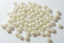 200 Glass Pearl Beads - 6mm - Cream