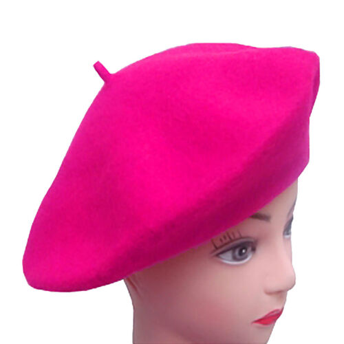 Ladies Womens Plain Warm Wool Beret Hat Novelty Fancy Party Accessory French Hat
