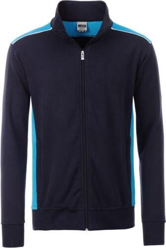 James /& Nicholson Herren Sweatjacke Herren Workwear Sweat Jacke