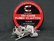 10 résistances, coil, Ni80 Fused Clapton tri core 0.21 ohm COILOLOGY