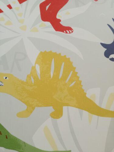 Gelb Dschungel Grün Designtapete Hellgrau KinderTapete Dinosaurier Rot
