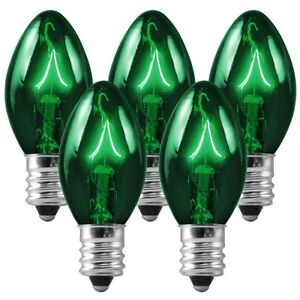 Replacement Christmas Bulbs.Details About 25 C7 Green Transparent Replacement Christmas Bulbs Party Holiday Wedding