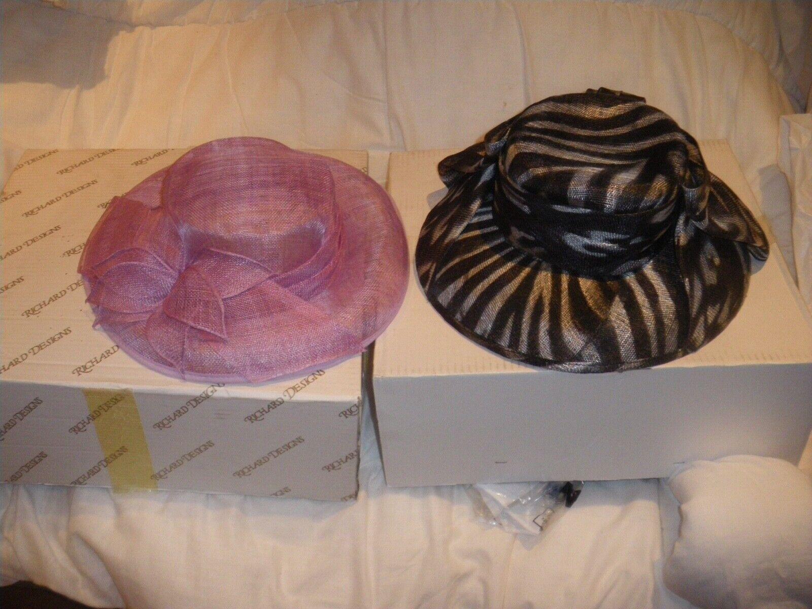 2 x wedding hats