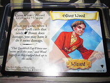 HARRY POTTER TCG QUIDDITCH CUP OLIVER WOOD 18/80 RARE ENGLISH MINT