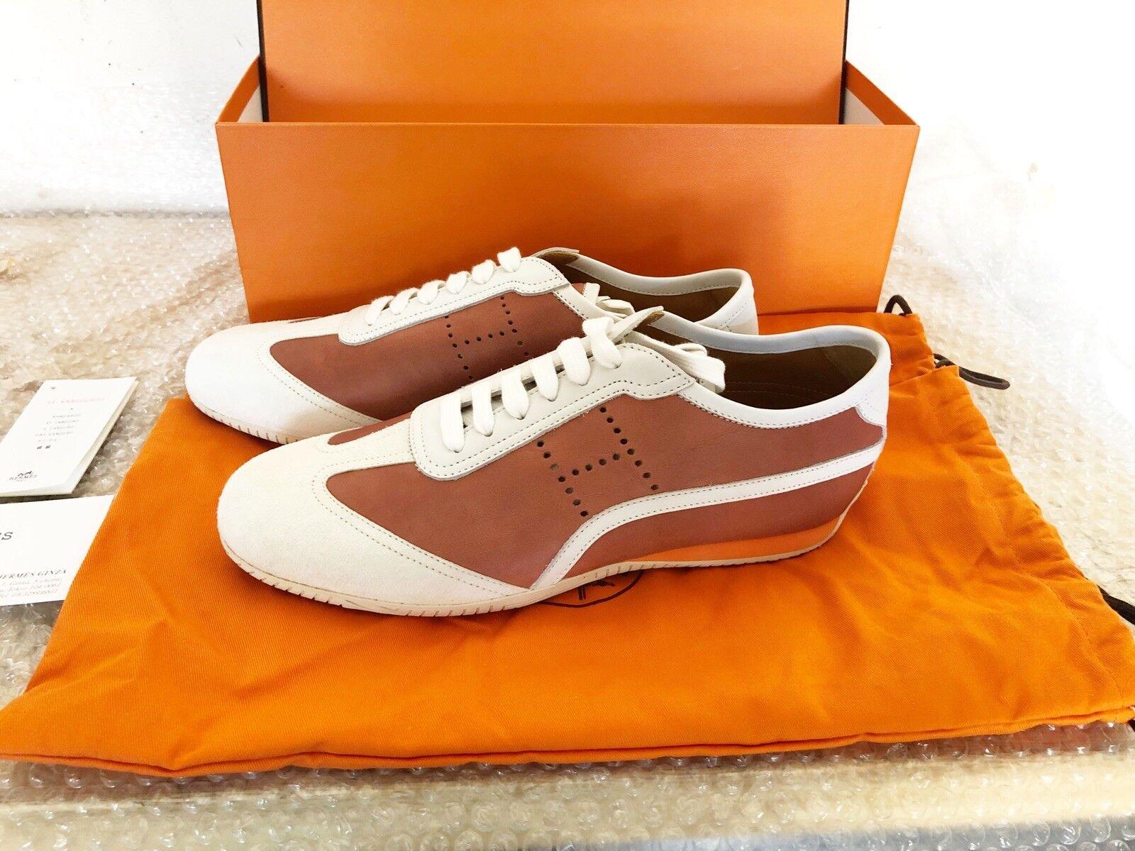 Original MSRP nuevo Hermes cortos de cuero x serraje zapatos zapatos zapatos 41 us 8  8.5 30f83a