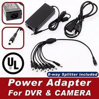 8 Port 12v 5a Dc Power Adapter For Any Ir Security Cameras Cctv Security Dvr Ul