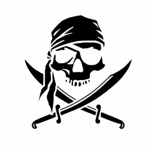 15*16CM Pirate Skull Car Stickers Personalized Laptop Motorcycle Vinyl Decals
