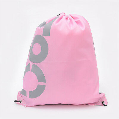 String Drawstring Backpack Tote Cinch Sack School Bag Sport Travel Pack Bookbag