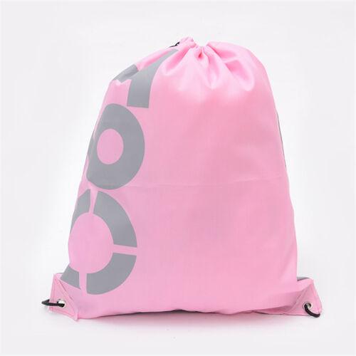 String Drawstring Bag Backpack Cinch Sack Gym Tote School Sport Pack Rucksack