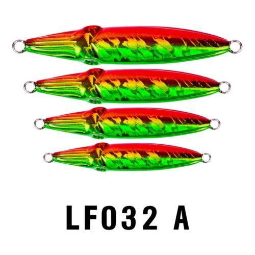 5PCS Deep sea Jigging Fishing Slow Jig Jigbait Spoon Lure baits  40//60//80//100g