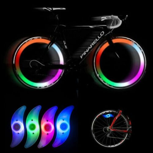 Bike LED Bright Light Bicycle Cycling Spokes Wire Tire Tyre Wheel Lamp Colorful