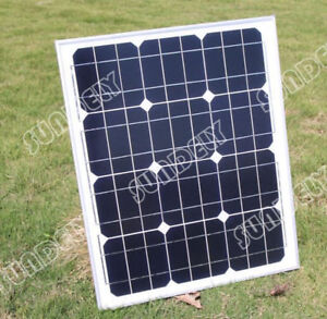 SUNDELY-30W-MONO-SOLAR-PANEL-30-WATTS-BATTERY-CHARGER-12V-PV-5M-CABLE-DIODE-New