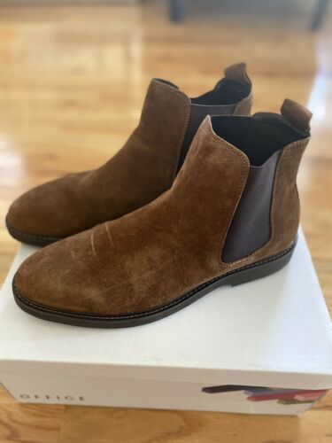 Office Chunky Chelsea Boots In Tea Suede