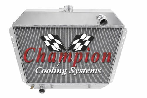 "2 Row 1/"" Tubes Supply Champion Radiator for 1968-1979 Ford F-Series V8 Engine"