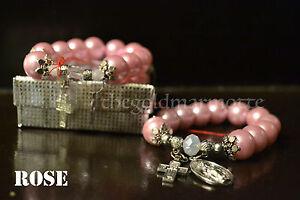 Elegant-Majorica-Pearl-Rosary-Bracelet-Rose