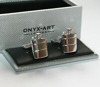 Novelty Mens Cufflinks - Hip Flask * New  * Boxed