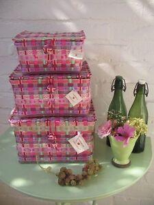klappschachtel frieda violett overbeck friends flechtk rbchen box mit deckel ebay. Black Bedroom Furniture Sets. Home Design Ideas