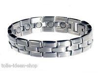Magnet- Bracelet Tripartite Made Of Stainless Steel Ca. 19,4 Cm