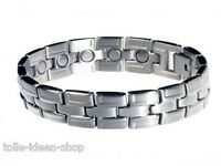 Magnet- Bracelet Tripartite Made Of Stainless Steel Ca. 19,4 Cm