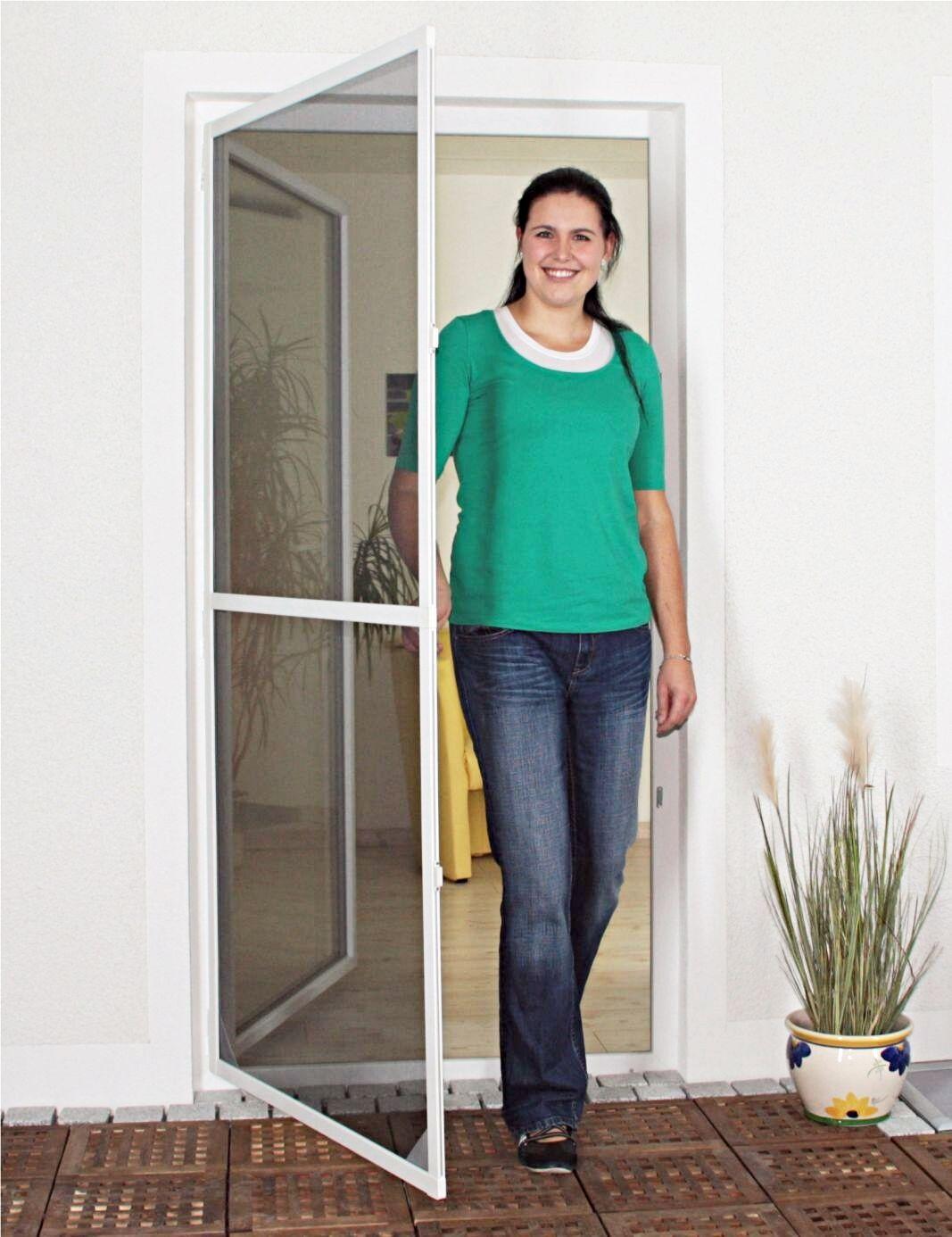 Fliegengitter Insektenschutz Tür Alu Profi Rahmen Neu 4 Größen weiß o. braun | Erste Kunden Eine Vollständige Palette Von Spezifikationen  | Verwendet in der Haltbarkeit  | Sonderkauf  | Verkauf
