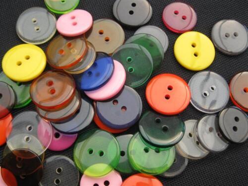 30 Knöpfe Mix bunt klar12-20mm Perlen basteln 11163