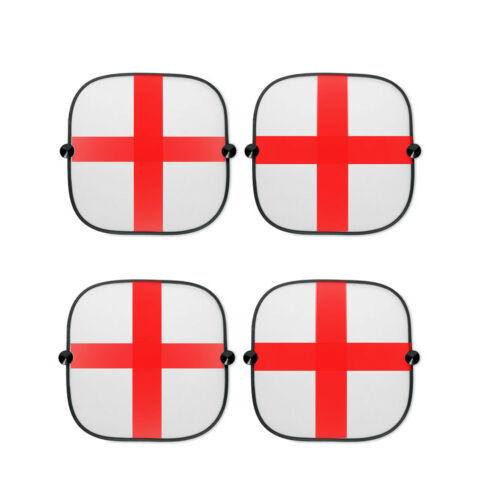 4x Angleterre//St George Voiture Fenêtre Soleil Shades Football-Coupe du Monde de Rugby
