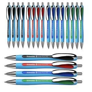 SCHNEIDER Kugelschreiber Slider Rave XB schwarz rot blau grün 2 Stück