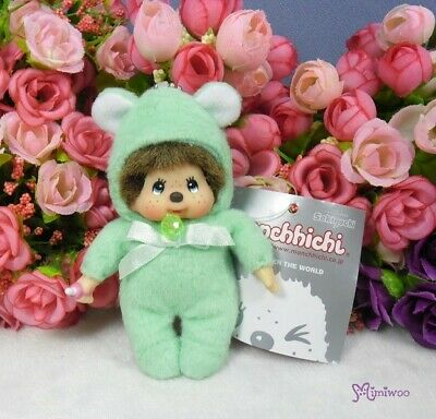 November 2681 Monchhichi 10cm Plush Birthday Mascot Birth Stone Keychain