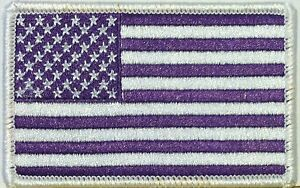 USA-Purple-Flag-Patch-With-VELCRO-Brand-Fastener-United-States-White-Border
