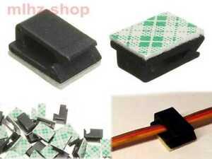 20-Stueck-selbstklebend-Kabelhalter-Servokabel-Regler-Kabel-Halter-Clip-Neu