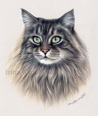 Ragdoll Cat Print Jade Eyes by Irina Garmashova