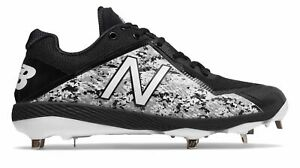 New Balance Low-Cut 4040v4 Pedroia Metal Baseball Cleat Mens Shoes Black with