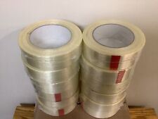 New Listingfilamint Strapping 39 Mil Half Case Tape 112 X 60 Yds 12 Rolls White