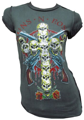 AMPLIFIED Vintage Official GUNS N ROSES Cross Skull Rock Star T-Shirt g.XS S M L
