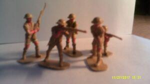 """5 Airfix Jouet Soldats Bristal 8th Armée Désert D'infanterie """"dernière Chance D'acheter""""-afficher Le Titre D'origine"""