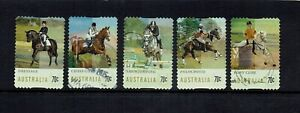 AUSTRALIA-DECIMAL-STAMPS-2014-EQUESTRIAN-EVENTS-USED-SET-OF-5
