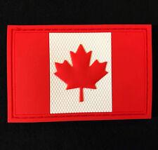 3D PVC CANADA FLAG RUBBER CANADIAN MORALE FULLCOLOR VELCRO® BRAND FASTENER PATCH