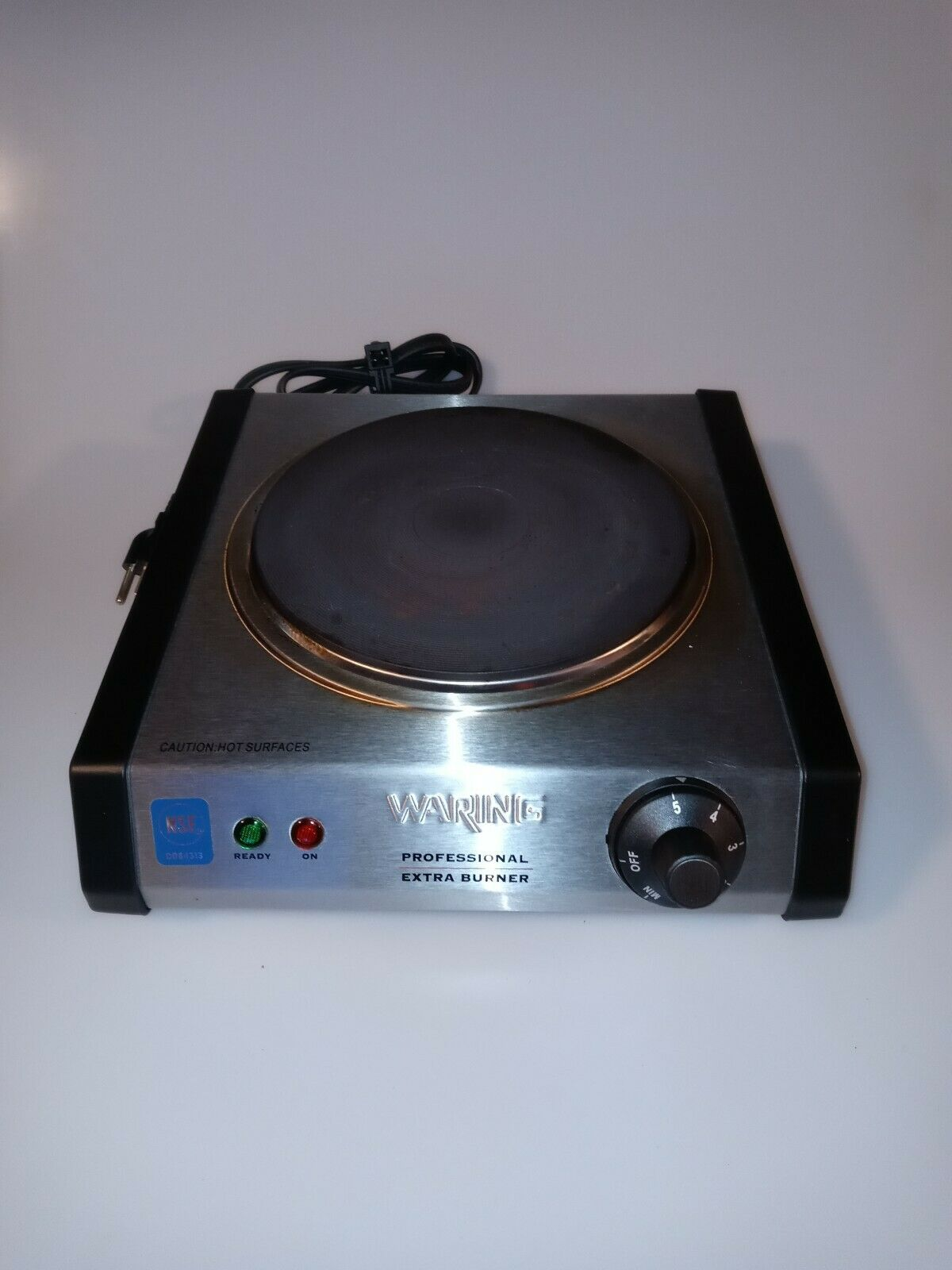 Waring web300 commercial cast iron single burner 7 silver