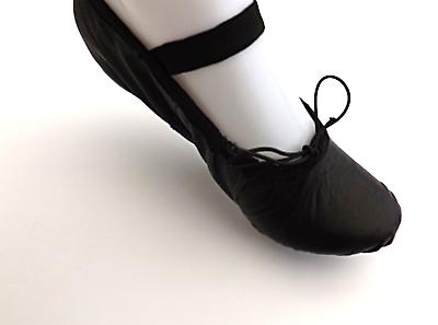 Negro De Cuero Zapatos De Ballet Suela Dividida Yoga Gimnasia