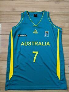 pretty nice e7539 e285a Details about Joe Ingles 2015 NBL Australia Boomers Official PEAK Oceania  Championship Jersey