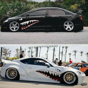 2x 59 Size Shark Mouth Teeth Graphics Vinyl Car Sticker