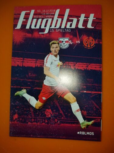 FSV Mainz 05 16.12.18 Flugblatt Poster Programm-Heft//Stadion-Magazin RB Leipzig