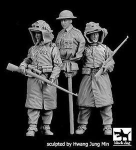 Black-Dog-1-35-British-Snipers-WWI-Set-w-Rifles-amp-Dummy-Head-Decoy-2-Fg-F35218