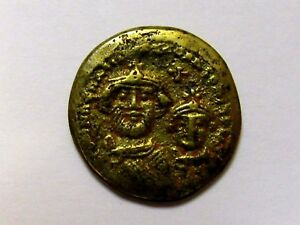 4-DAY-SALE-Roman-Gold-Coloured-Solidus-Contemporary-Forgery-Rare-Byzantine-Copy