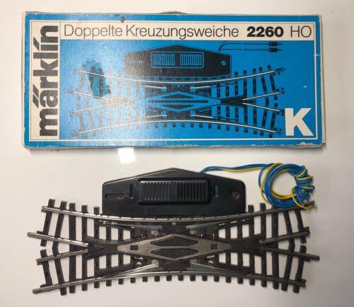 Märklin 2260 H0 Doppelkreuzungsweiche r424,6mm wie NEU /& OVP elek K- Gleis