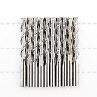 10Pcs 3.175mm 22mm Double/Two Flute solid Carbide Spiral CNC End Mill Router Bit