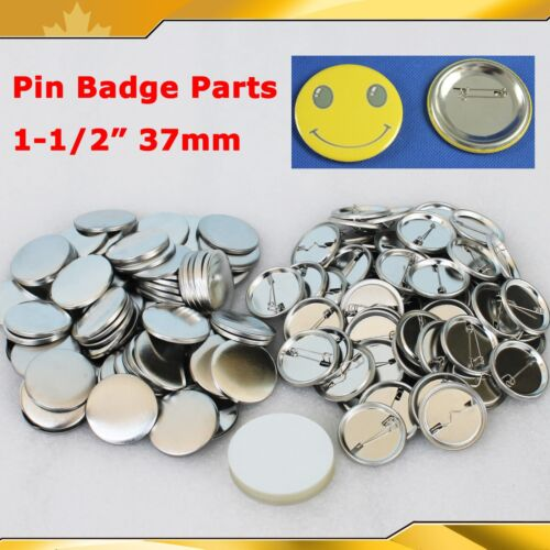 """DIY  1,000 complete sets 1-1//2/""""pin badge button  for Pro button maker machine"""
