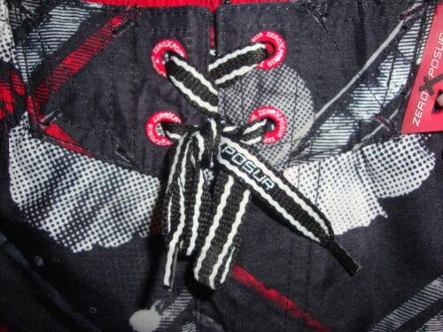 Zeroxposur Taglia ~ Rosso Nero e Trunks Board 14 Swim 16 Lrg Shorts XIq4XxSPwr