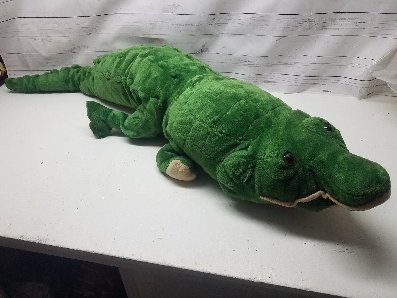 Goffa Alligator Crocodile Reptile Plush Large Lifelike 52  Stuffed Animal Toy