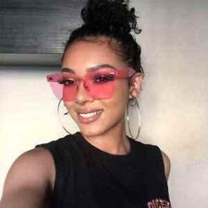 más fotos 05e55 5469d Details about Gafas de Sol Lentes de Moda Oversize Fashion Sunglasses  Design Rimless Cuadrado